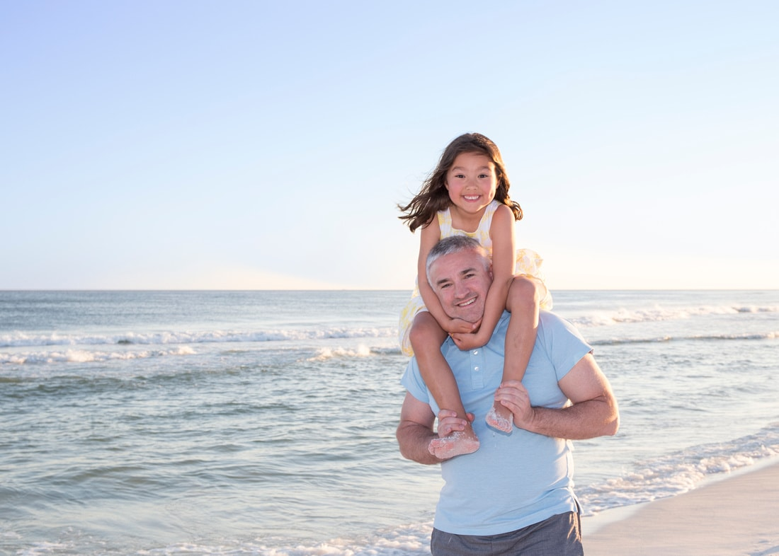 Daddy Daughter Beach Photo Session