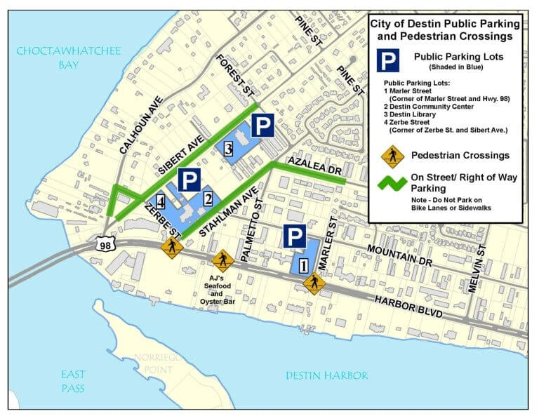 Harborwalk Village Parking Map