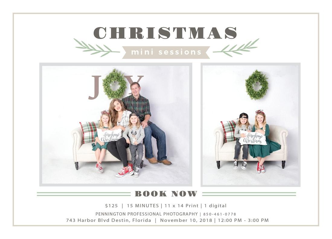 Christmas Mini Sessions Destin Flyer