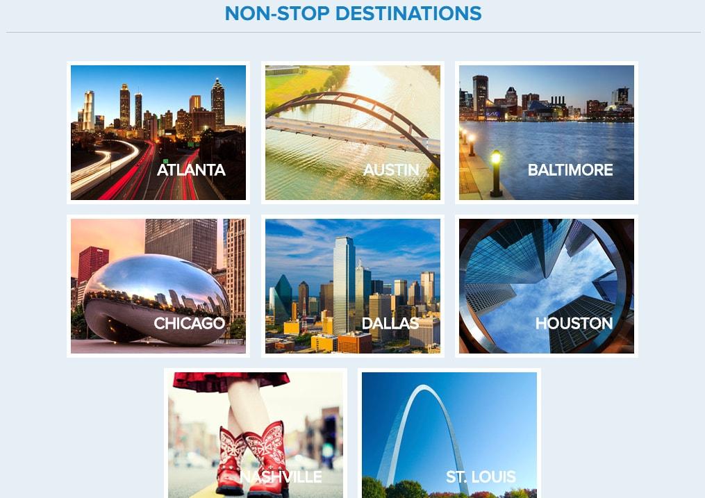 Panama City non stop flight destinations