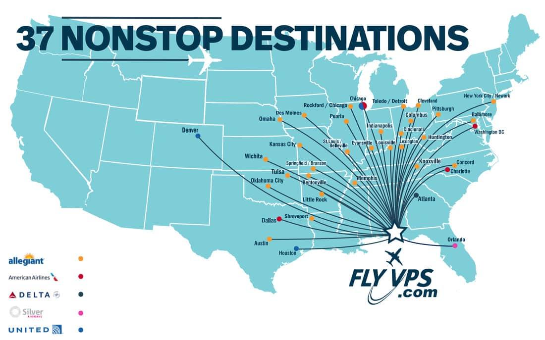 vps airport flights