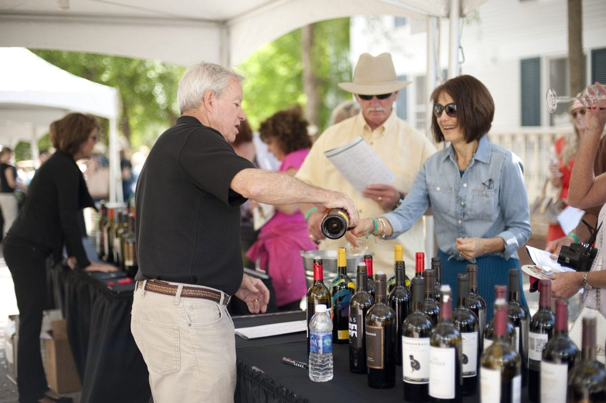 Sandestin wine festival wine pouring